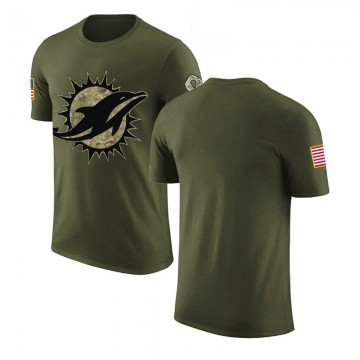 Men's Blank Miami Dolphins Olive Salute to Service Legend T-Shirt