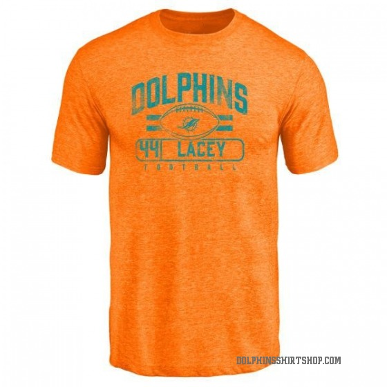 Men's Deon Lacey Miami Dolphins Flanker Tri-Blend T-Shirt - Orange