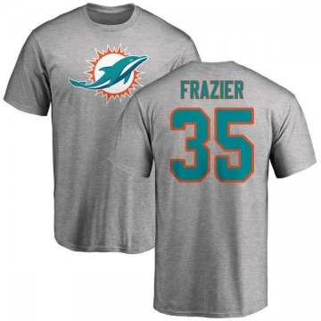 Men's Kavon Frazier Miami Dolphins Name & Number Logo T-Shirt - Ash