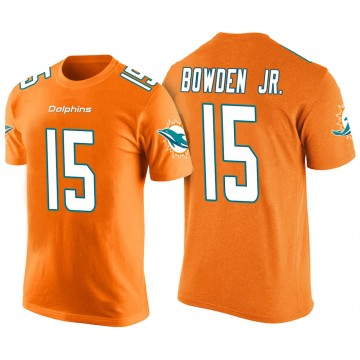 Men's Lynn Bowden Jr. Miami Dolphins Orange Color Rush Legend T-Shirt